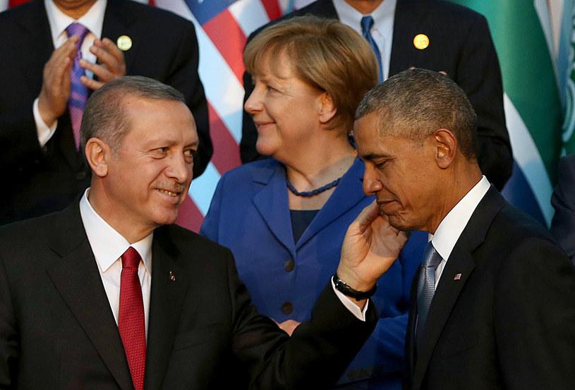 Recep Tayyip Erdogan, Angela Merkel i Barack Obama /AFP
