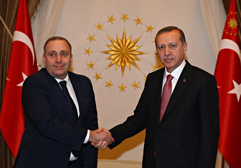 Recep Tayyip Erdogan i Grzegorz Schetyna /PAP/EPA