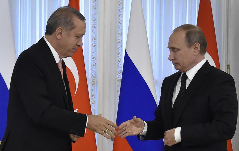 Recep Tayyip Erdogan i Władimir Putin /AFP