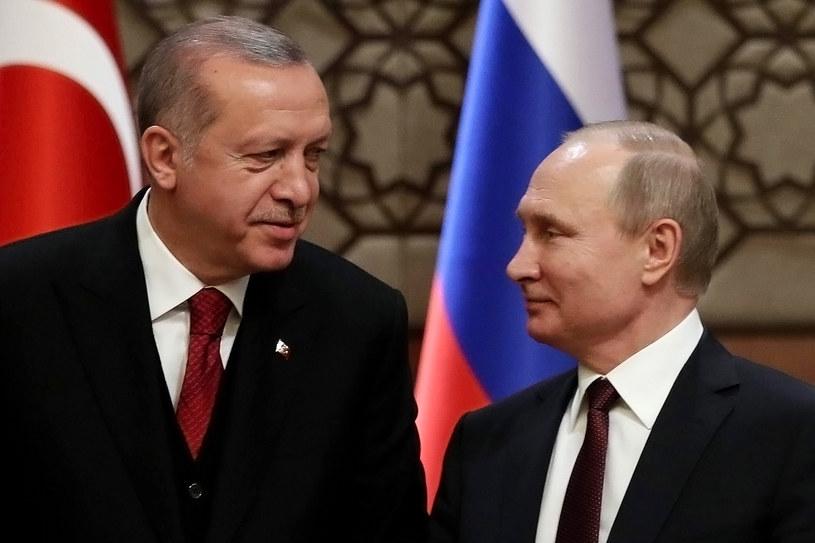 Recep Tayyip Erdogan i Władimir Putin /ADEM ALTAN /AFP