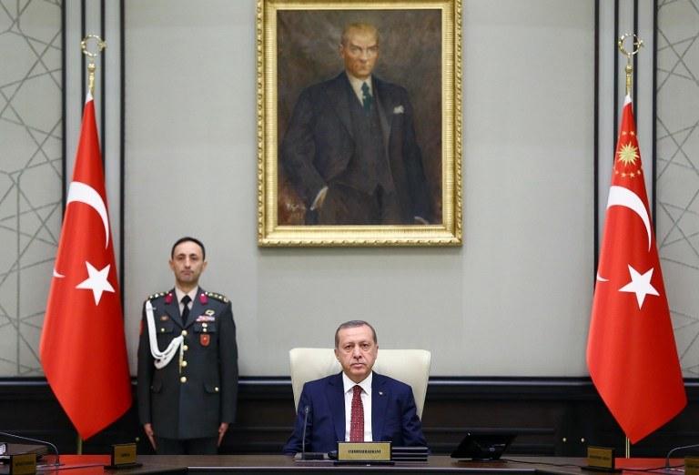 Recep Tayyip Erdoğan, prezydent Turcji /KAYHAN OZER / Presidential Palace Press Office / AFP /AFP