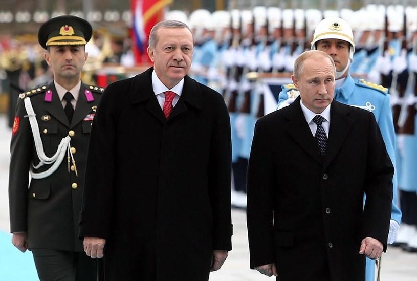 Recep Tayyip Erdogan w towarzystwie Władimira Putina /AFP