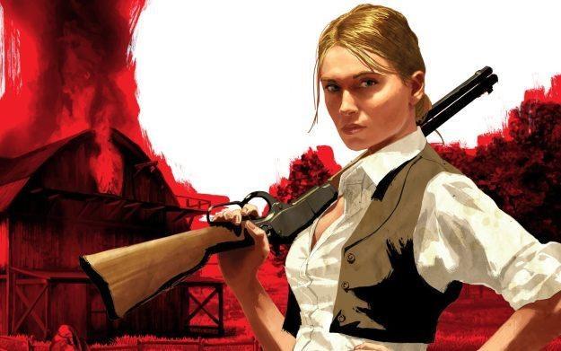 Red Dead Redemption i jedna z bohaterek gry /Informacja prasowa