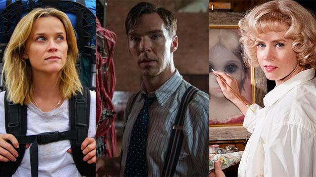 "Reese Witherspoon (""Wild""), Benedict Cumberbatch (""Imitation Game"") i Amy Adams (""Big Eyes"") /materiały dystrybutora"
