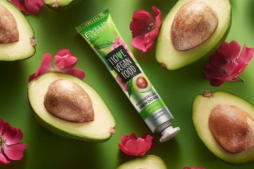 Regenerujący krem do rąk I Love Vegan Food Eveline Cosmetics Hibiskus & Avocado /materiały prasowe
