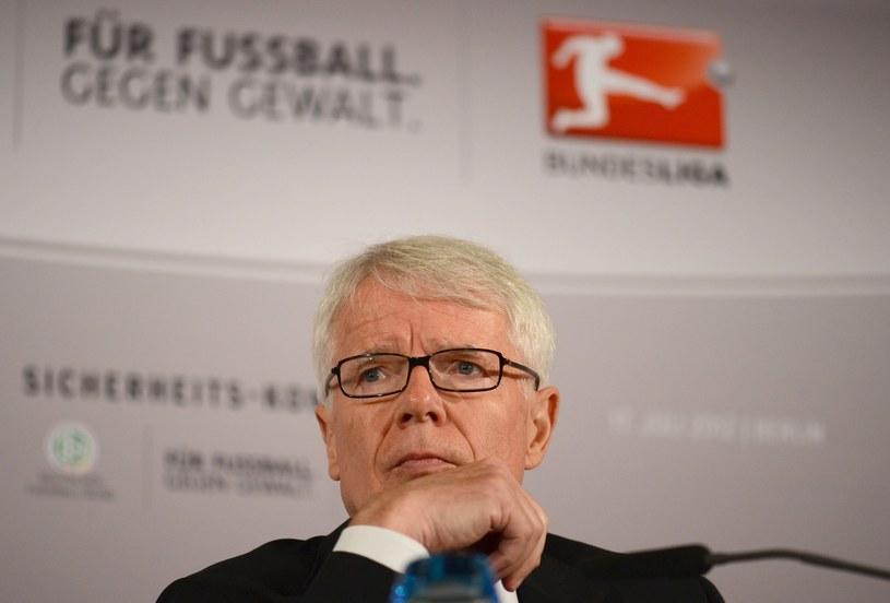 Reinhard Rauball, prezydent Niemieckiej Ligi Piłkarskiej /AFP