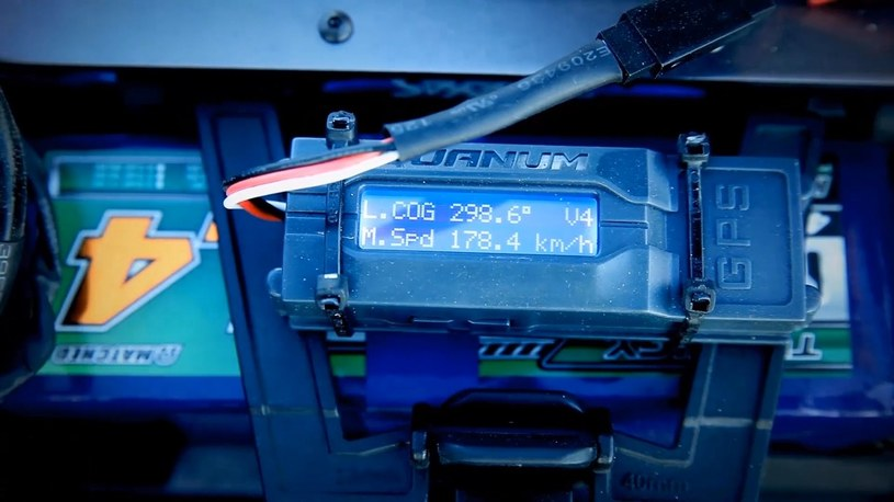 Rejestrator GPS pokazuje prędkość osiągniętą przez niepozorną zabaweczkę /materiały prasowe
