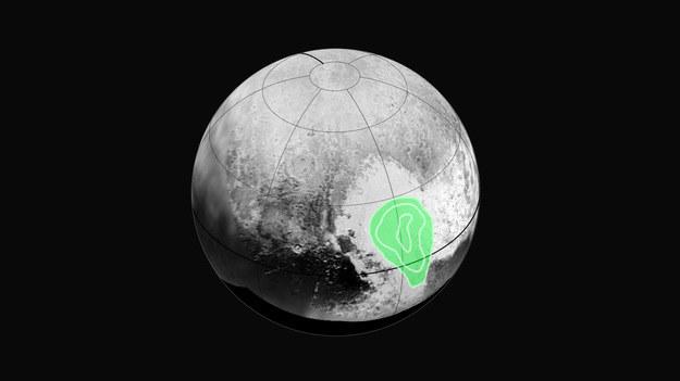 Rejon wystepowania zestalonego tlenku węgla /NASA