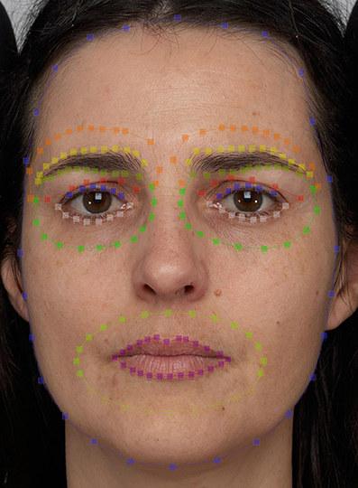 Rejony twarzy brane pod uwagę, przy określaniu kontrastu /Aurélie Porcheron /Materiały prasowe