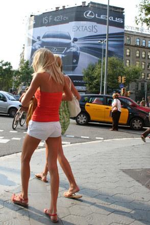 Reklama lexusa IS F w Barcelonie /INTERIA.PL