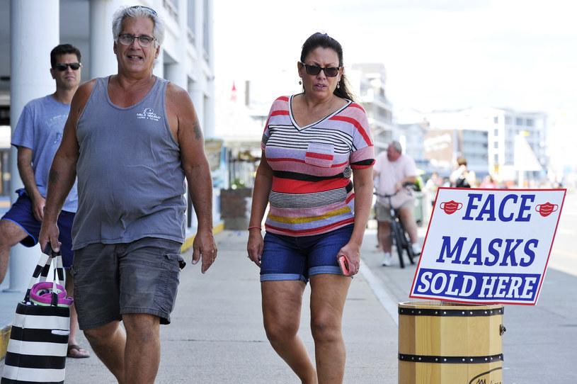Reklama maseczek w stanie New Hampshire /AFP