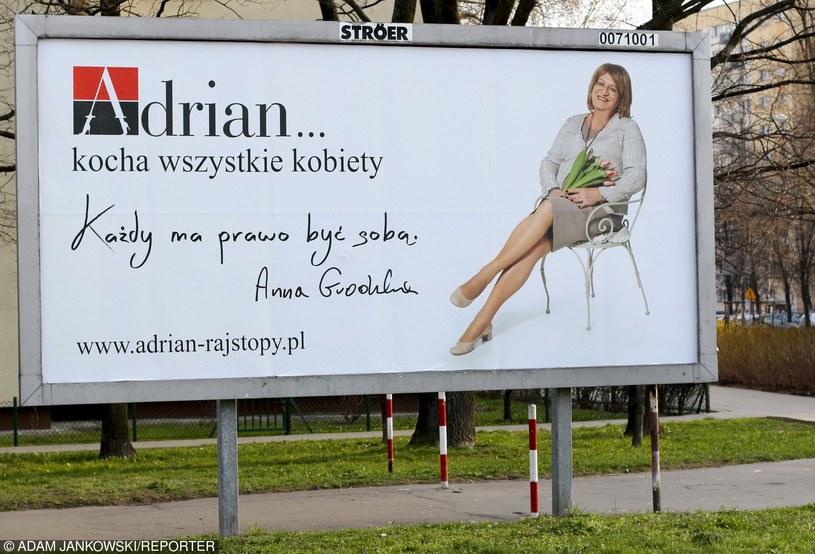 Reklama rajstop z udziałem Anny Grodzkiej /fot. Hildegarda Cjujstek/REPORTER /East News