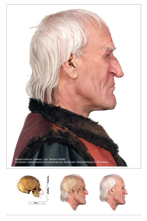 Rekonstrukcja twarzy Kopernika. Fot. CLK KGP.