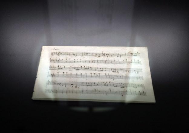 Rękopis Fryderyka Chopina Mazurek E-dur /Leszek Szymański /PAP