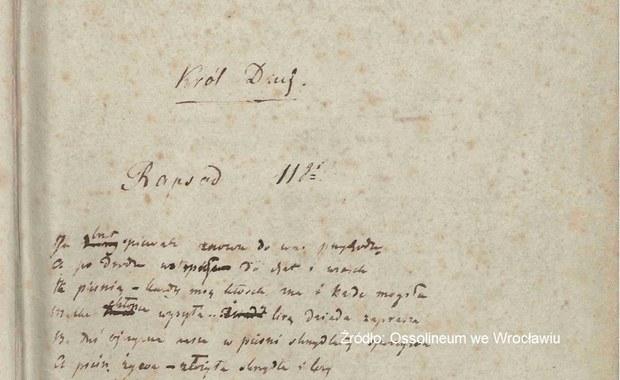 Rękopisy J. Słowackiego zostaną wpisane na krajową listę UNESCO