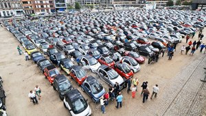 Rekordowa parada smartów w Belgii