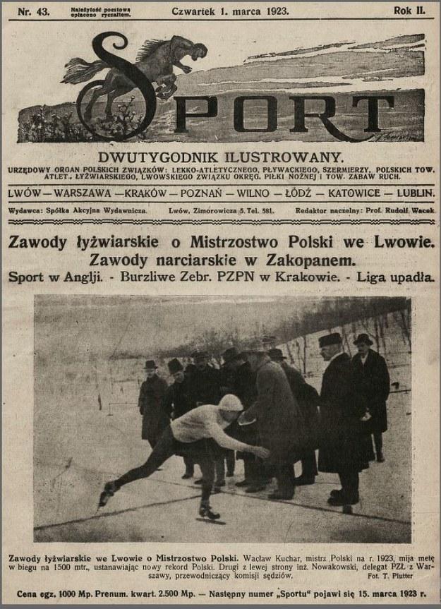 Relacja Sportu z Mistrzostw Polski we Lwowie w 1923 roku /Materiały promocyjne