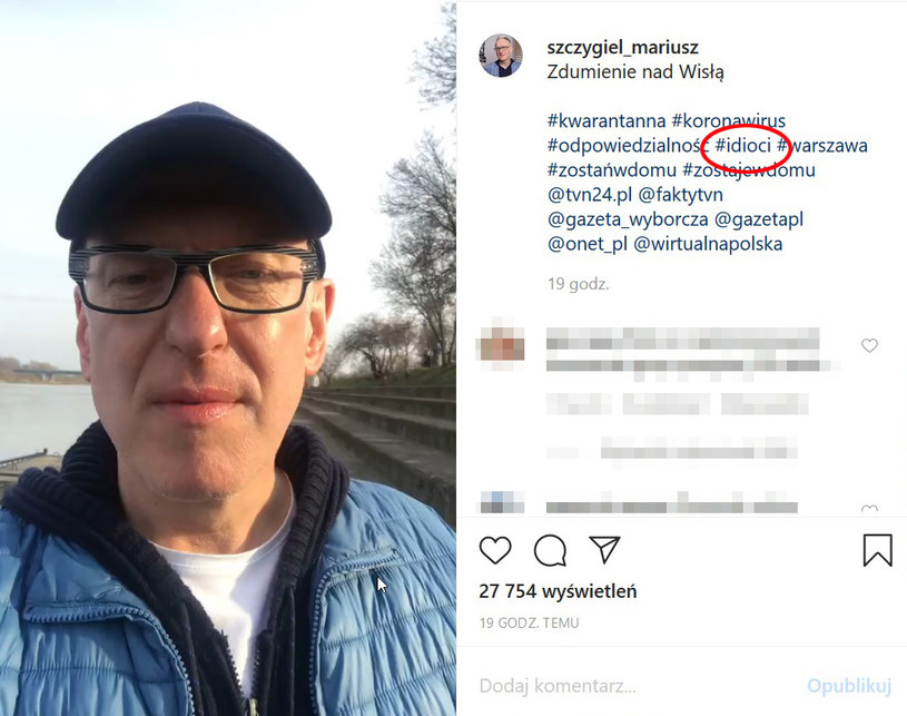 Relację można obejrzeć na Instagramie Mariusza Szczygła /Instagram