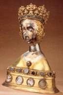 Relikwiarz hermowy św. Doroty sprzed 1445, z koroną z końca XV w. /Encyklopedia Internautica