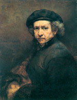 Rembrandt Harmensz van Rijn, Autoportret, 1661 /Encyklopedia Internautica