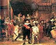 Rembrandt, Wymarsz strzelców, zwany strażą nocną, 1642 /Encyklopedia Internautica