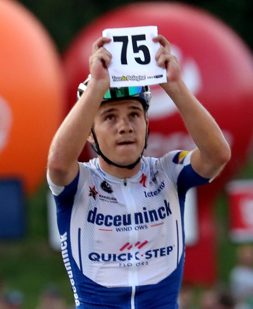 Remco Evenepoel udowodnił, że jest nie tylko świetnym sportowcem, ale też wielkim człowiekiem / Grzegorz Momot    /PAP