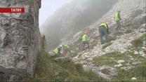 Remont szlaku na Giewont. Zniszczyły go pioruny podczas tragicznej burzy na szczycie