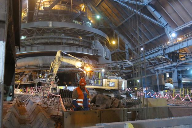 Remont wielkiego pieca w hucie ArcelorMittal Poland w Krakowie /Józef Polewka /RMF FM