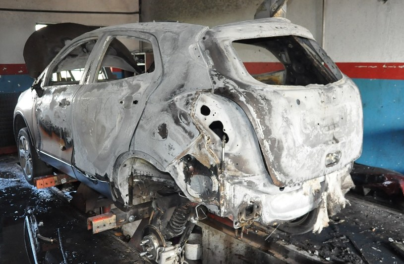 Remontowany Buick Encore uległ spaleniu /Policja