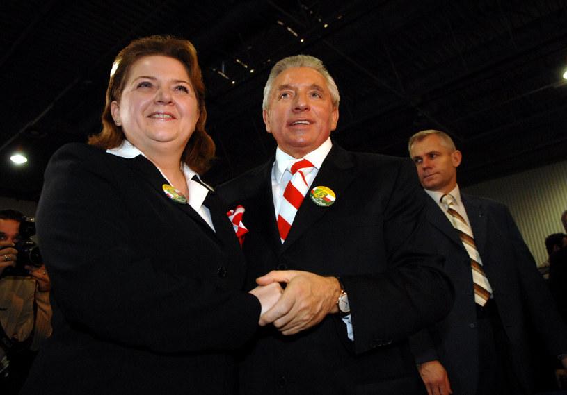 Renata Beger i Andrzej Lepper w  2007 r. , zdj. archiwalne /ADAM JAGIELAK / WPROST /East News