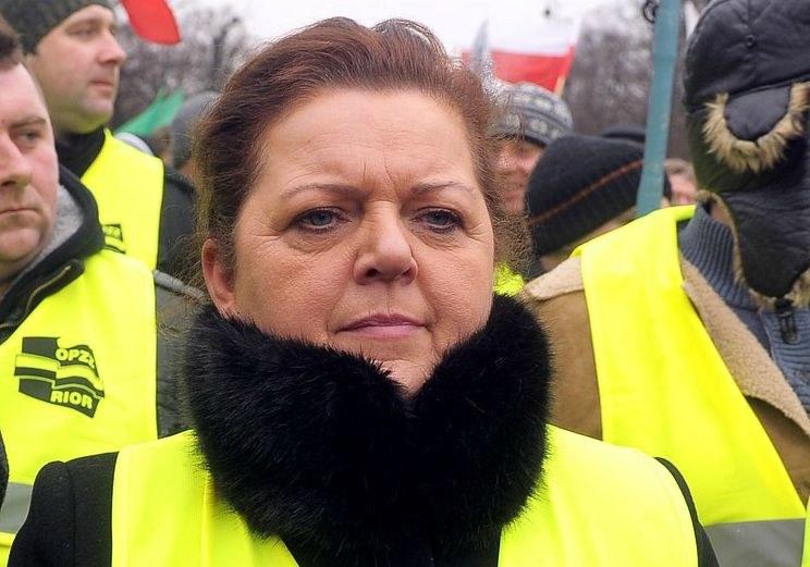 Renata Beger podczas protestu rolników /Jan Bielecki /East News