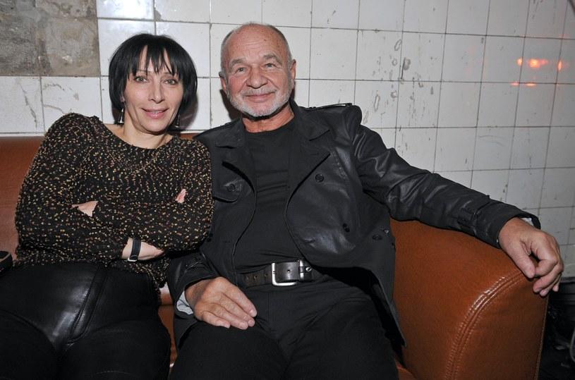 Renata Pałys ze swoim serialowym mężem Ryszardem Kotysem /East News