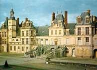 Renesans: Dziedziniec Białego Konia, fragment pałacu Fontainebleau /Encyklopedia Internautica