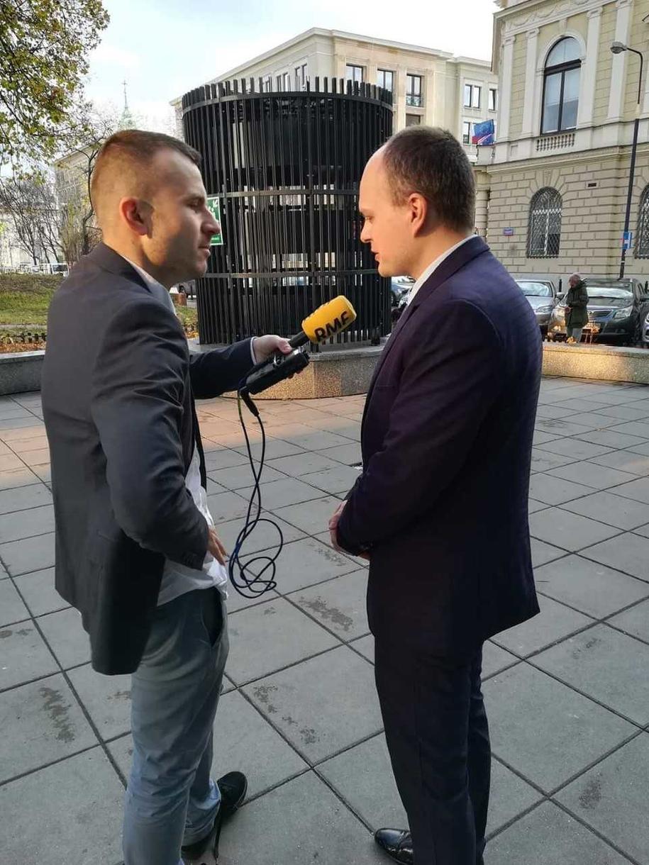 Reporter RMF FM Michał Dobrołowicz z Marcinem Biedrzyckim, niewidomym mammodiagnostą /Fot. Michał Dobrołowicz /RMF FM
