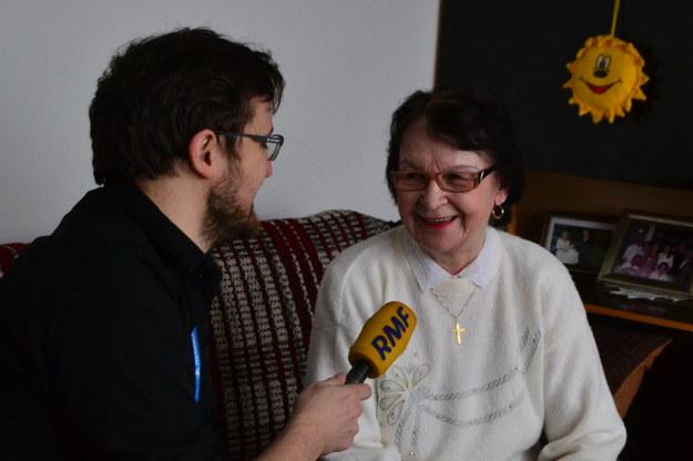 Reporter RMF FM Pawel Balinowski i pani Pelagia, babcia Dody /RMF  FM /RMF FM
