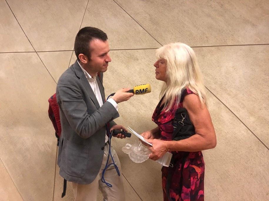 Reporter RMF FM z  Joanną Pajkowską, fot. Marta Pawliszewska /Michał Dobrołowicz, RMF FM