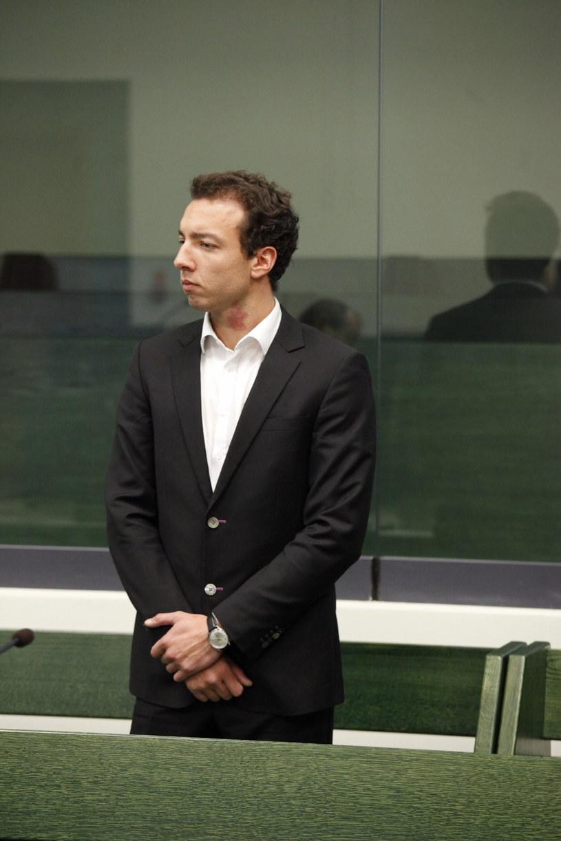 Reporter TVP Endy Gęsina-Torres podczas ogłoszenia wyroku. /Artur Reszko /PAP