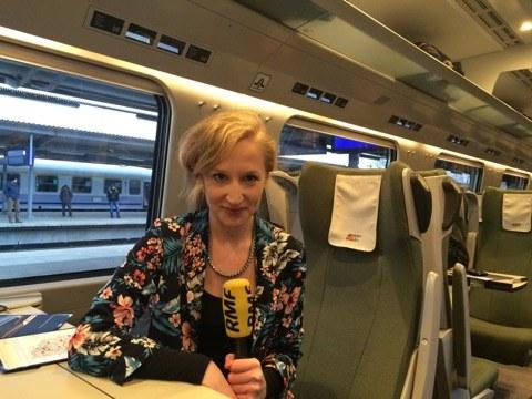 Reporterka RMF FM testuje dla Was Pendolino /Magdalena Gawlik /RMF FM