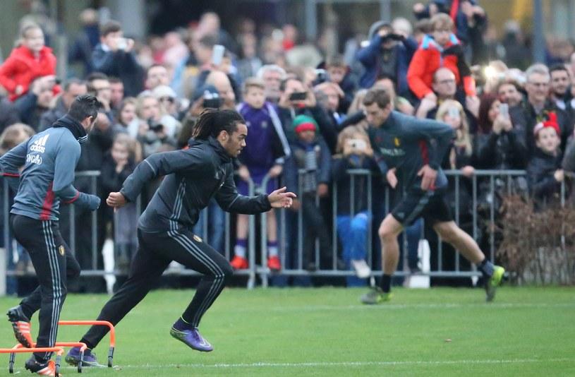 Reprezentacja Belgii na treningu /AFP