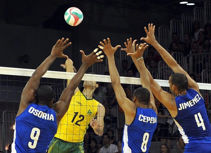 Reprezentacja Kuby w meczu z Brazylią /AFP