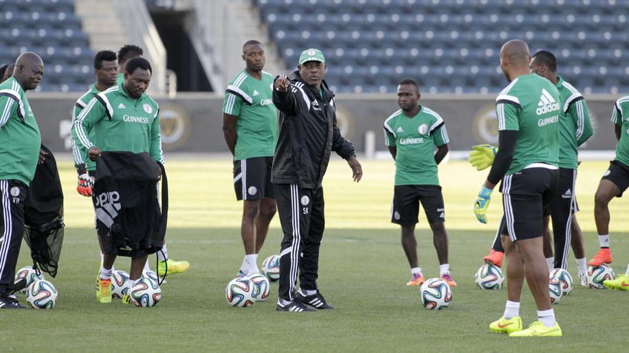 Reprezentacja Nigerii podczas treningu /H. Rumph Jr /PAP/EPA