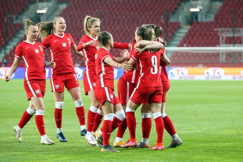 Reprezentacja Polski kobiet w towarzyskim meczu ze Szwedkami /JAKUB PIASECKI / CYFRASPORT / NEWSPIX.PL /Newspix