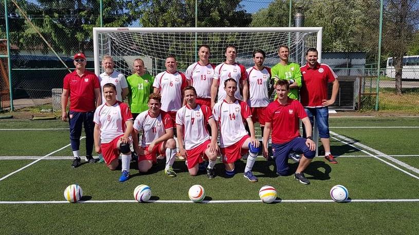 Reprezentacja Polski niewidomych/ źródło: Facebook Blind Football Poland /