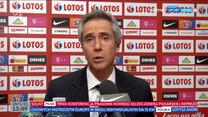 Reprezentacja Polski. Paulo Sousa: Widzę, że Robert Lewandowski chce w kadrze zbudować sportową rodzinę (POLSAT SPORT). Wideo