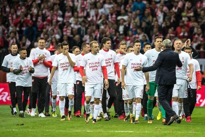 Reprezentacja Polski po wywalczeniu awansu na mundial /East News