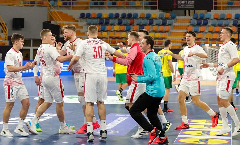 Reprezentacja Polski po zwycięstwie z Brazylia na MŚ /KHALED ELFIQI   /AFP
