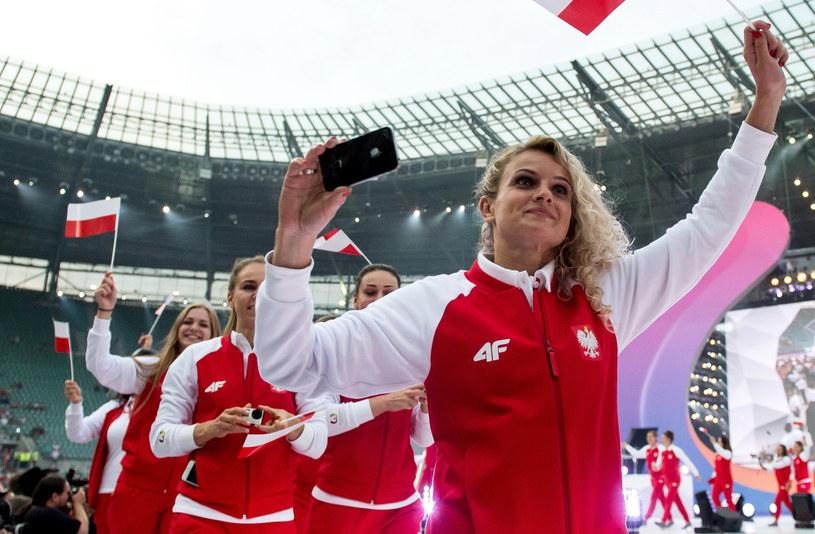 Reprezentacja Polski podczas ceremonii otwarcia Światowych Igrzysk Sportów Nieolimpijskich - The World Games we Wrocławiu /Maciej Kulczyński /PAP