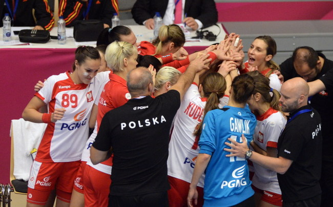 Reprezentacja Polski podczas mistrzostw świata w Danii /Marcin Bielecki /PAP