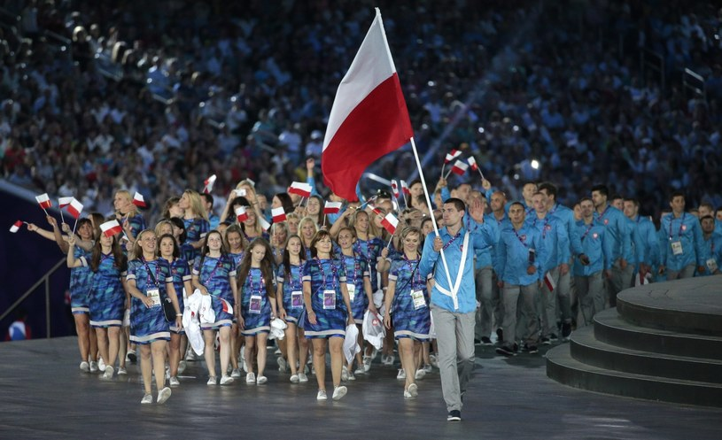 Reprezentacja Polski podczas otwarcia Igrzysk Europejskich w Baku /PAP/EPA