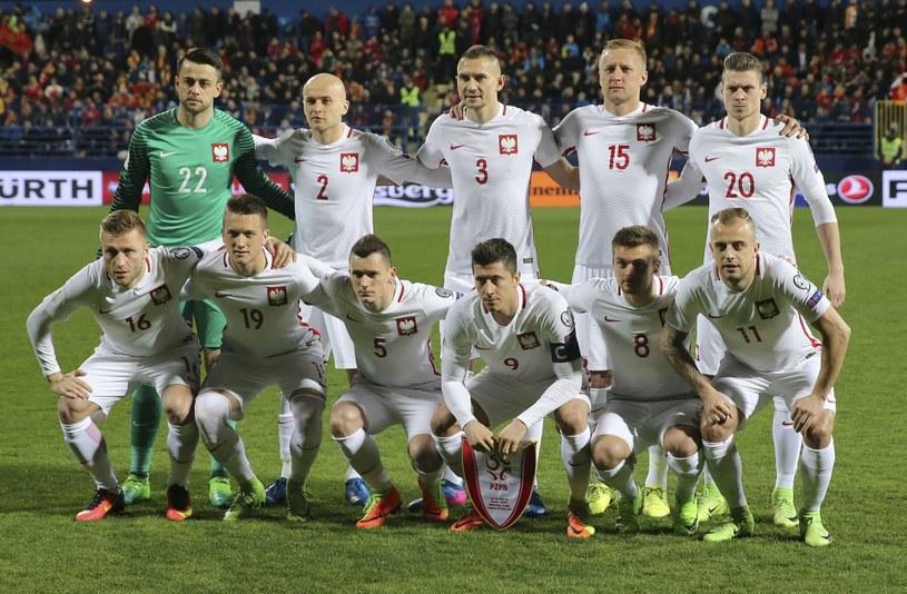 Reprezentacja Polski przed meczem z Czarnogórą /PAP/EPA
